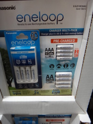Panasonic Eneloop Rechargeable Pack INC Charger, 8 AA & 4 AAA | Fairdinks