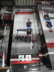 Cap 90kg Dumbbell Set With Rack | Fairdinks