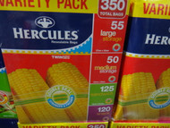 Hercules Resealable Bags Variety 350CT | Fairdinks