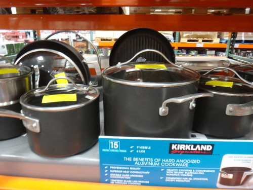 Kirkland Signature Hard Anodized Cookware 15 Pieces