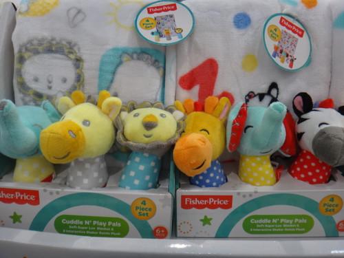 Fisher Price 4PC Blanket & Rattle Set | Fairdinks
