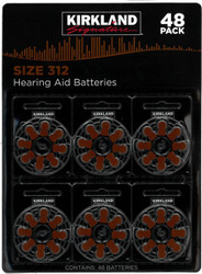 Kirkland Signature Hearing Aid Batteries Size 312  - 48 Pack