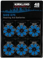 Kirkland Signature Hearing Aid Batteries Size 675 - 48 Pack   Fairdinks
