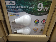 Smart Bulb LED Globe 2PK 9W | Fairdinks