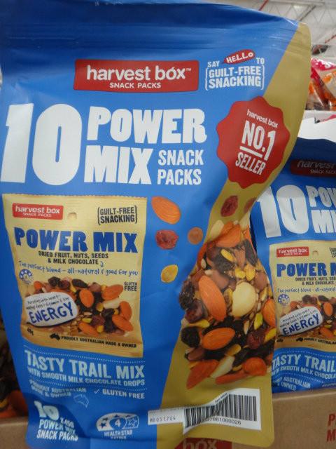 Harvest Box Power Mix Snack Packs 10 x 45G | Fairdinks