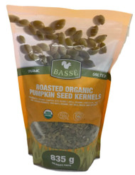 Basse Organic Roasted Pumpkin Seeds 835G | Fairdinks