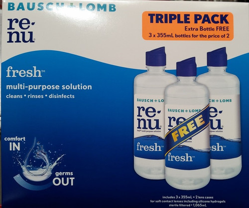 Bausch + Lomb Renu Fresh Multi-Purpose Solution 3 x 335ML | Fairdinks