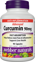 Webber Naturals Advanced Curcumin 90MG 90 count | Fairdinks