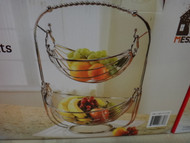 Mesa Chrome Fruit Basket 2 Tier | Fairdinks