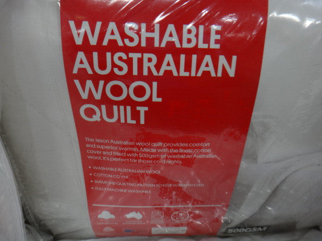 NEW Jason 500GSM Washable Clean Wool Quilt W/ 2PK Pillow from ... : jason wool quilt - Adamdwight.com