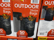 Kirkland Signature Outdoor Trash Bag 70 CT / Fit 189L Bin | Fairdinks