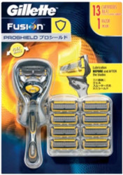 Gilette Fusion Proshield Razor + 13 Catridges | Fairdinks