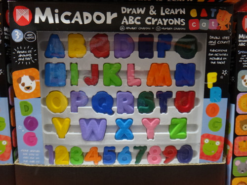 Micador ABC Draw & Learn Crayons | Fairdinks