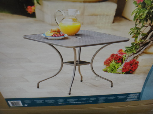 "28"" Bistro Table 71cm Square Metre Micro Mesh | Fairdinks"
