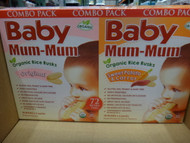 Baby Mum-Mum Organic Rice Rusks Mixed 4 x 36g | Fairdinks