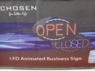 Chosen LED Neon Open/Closed Sign 58x36CM   Fairdinks