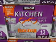 Kirkland Signature Flex Tech Drawstring Bags 200CT / Fit 49L Bin | Fairdinks
