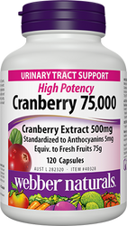 Webber Naturals Cranberry Extract 500MG 120CT (75G Fresh Fruit) | Fairdinks