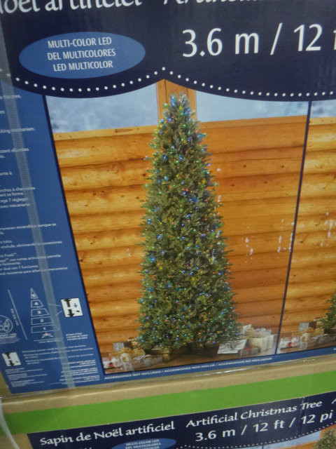 12ft artificial christmas tree pre lit 2 tone led 1350ct - 12 Ft Artificial Christmas Trees