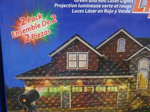 Outdoor Laser Projectors Red & Green Light 2 Pack | Fairdinks