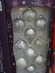 Kirkland Signature Glass Ornaments 10 Piece Pack    Fairdinks