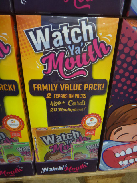 Watch Ya Mouth Family Board Game 450 + Cards/ 20 Mouth PCS | Fairdinks