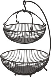 Mikasa Antique Black Basket 2 Tier | Fairdinks