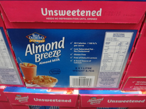 Blue Diamond Almond Breeze Unsweetened Milk 8 x 1L | Fairdinks