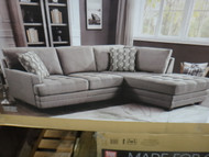 True Innovations Fabric Sofa Chaise Number of Boxes: 2 Boxes   Fairdinks