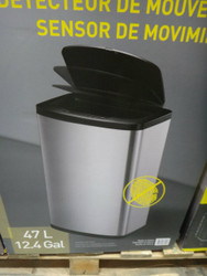 EKO Motion Sensor Trash Can 47L With Liner | Fairdinks
