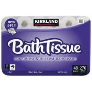 Kirkland Signature Bath Tissue 3 Ply 48 x 270 Sheets | Fairdinks