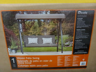 Woven Patio Swing With Canopy | Fairdinks