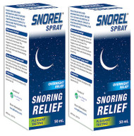 Snorel Snoring Relief Spray 2 x 50ML   Fairdinks