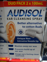 Audisol Ear Cleansing Spray 2 x 100ml | Fairdinks