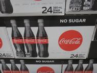 Coca Cola No Sugar - Glass Bottles 24 x 385ML | Fairdinks