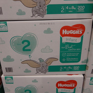 Huggies Ultimate Nappies Infant 200 Count