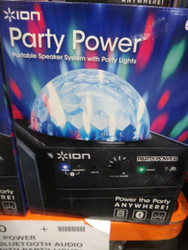 Ion Party Power Wireless Bluetooth Audio Speaker with Party Lights   Fairdinks