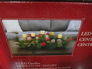 """30"""" Floral Centerpiece With LED Candles Batteries Not Included   Fairdinks"""
