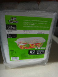 Cafe Express Clear Plastic Containers 25CT Containers and Lids | Fairdinks