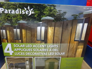 Paradise Solar Led Post Light Set 10 Lumens 4 Pack