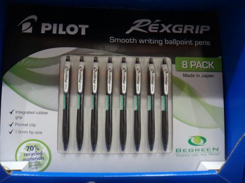 Pilot Rexgrip Ballpoint Pen 8 Pack | Fairdinks