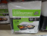 Cafe Express Plastic Container 25CT 3 Compartment | Fairdinks