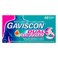 Gaviscon Dual Action Tablets 2 x 48 Count | Fairdinks