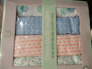 Laurelcrest Baby Cotton Muslin Swaddles 4 Pack 116cm x 116cm