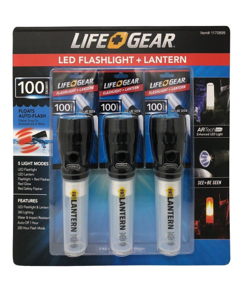 Life Gear LED Flash Light Lantern 3 Pack | Fairdinks