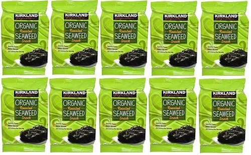 Kirkland Signature Organic Roasted Seaweed 10 x 17G | Fairdinks