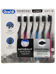 Oral B Charcoal Toothbrush 6 Pack | Fairdinks