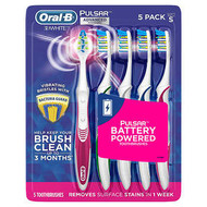 Oral-B Pulsar Battery Toothbrush 5 Pack | Fairdinks