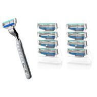Gillette Mach3 Turbo Razor + 9 Cartridges | Fairdinks
