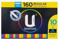 U By Kotex Regular Slim Tampons 160 Count | Fairdinks
